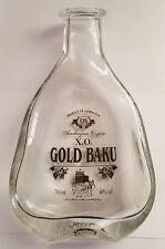 Gold Baku Azerbaijan Cognac X.O. Glass Bottle-shaped Ashtray Tray