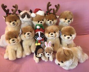 Lot 13 Gund Boo Dog Grumpy Cat Holiday Christmas Plush The Worlds Cutest Dog!