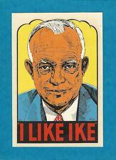 "VINTAGE ORIGINAL 1952 SOUVENIR ""I LIKE IKE"" PRESIDENT EISENHOWER DECAL ART"