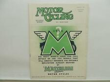 September 1953 MOTORCYCLE Magazine Matchless Clubman Manx Grand Prix L8454