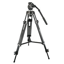 1.5m Professional Weifeng 717 Heavy Duty Video Camcorder Camera Tripod Head UK