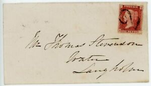"""SCOTLAND Rare 1867 cover with 1d cancelled by """"2"""" handstamp of Canonbie"""