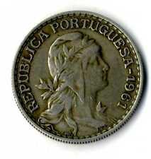 Moneda Republica Portuguesa 1961 1 escudo coin