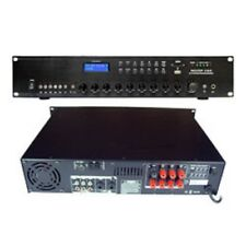AMPLIFICATEUR AMPLI LIGNE 100V PUBLIC ADRESS PA 280W MAX ENTREES 3 MICRO 2 LINE