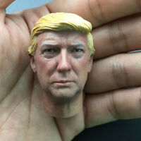 "1/6 Donald J Trump Head w/neck for hottoys 12"" US President Action Figure"