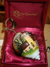 "Ne'Qwa Art Christmas ornament, ""Amazing Grace"", artist D. Morgan Church Winter"