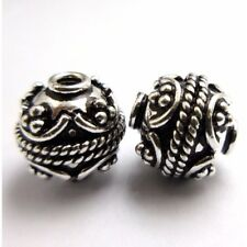 ANTIQUE STERLING SILVER PLATED GOLD PLATED SOLID COPPER BALI BEAD HANDMADE  B 4