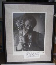 BB KING SIGNED LITHO KING OF THE BLUES, 1995, with COA