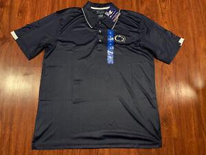 Champion Men's Penn State PSU Football Navy Polo Jersey Shirt Large L NCAA
