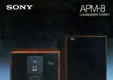 B&W paper COPY of the mega rare 2-page brochure for Sony Esprit APM-8 speakers