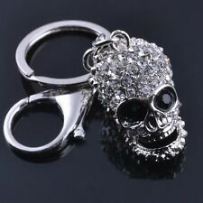 Funny Creative 3D Skull Riding Bike Charm Purse Bag KeyChain Keyring Key Fob