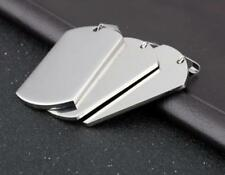 10pcs Lot Stainless Steel Plain Army Dog tag Pendant High Polished 28*50mm large