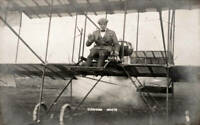 OLD PHOTO British Aviation Pioneer Claude Grahame white At The Controls