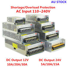 AC 110-240V TO DC 12V/24V 5A/10A/15A/20A/30A Transformer Regulated Power Supply