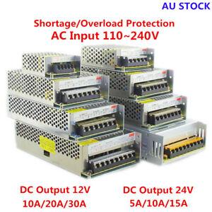 AC 110-240V TO DC 12V/24V 5A/10A/15A/20A/30A Transformer Regulated Power Supply