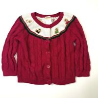 Gymboree Girls Pups and Kisses Cardigan Sweater 12-18 Months Yorkie Dog