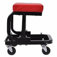 Auto Mechanics Work U Rolling Repair Chair Garage Shop Roller Seat Storage Tools
