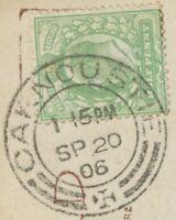 "2463 SCOTTISH VILLAGE POSTMARKS ""CARNOUSTIE"" very fine rare strike (29mm) 1906"