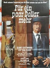 "For a Few Dollars More German movie poster ( approx 23"" X 33"") re-release 1969"