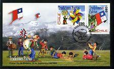 Chile 2002 FDC Patriotic Traditions Pinwheel & Kite