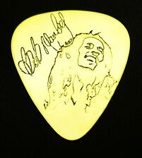 BOB MARLEY - Solid Brass Guitar Pick, Acoustic, Electric, Bass