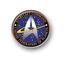 """STAR TREK FEDERATION OF PLANETS / 1"""" / 25mm pin button / badge / Next Generation"""