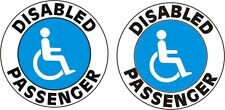 2 DISABLED PASSENGER STICKERS FOR YOUR CAR OR ANYWARE CHEAPEST FREE P&P