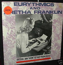 "SEALED! EURYTHMICS & ARETHA FRANKLIN 12"" SINGLE Sisters QUEEN OF SOUL RARITY NEW"