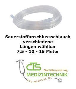 Sauerstoffschlauch Schlauch div. Längen Sauerstoff 7,5 & 10 & 15 m Verlängerung