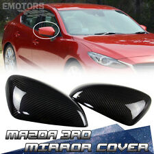 Carbon Side Mirror Cover Pair For Mazda 3 3rd Sedan Hatchback GX S 14-16