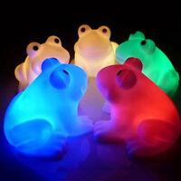 Magic LED Night Light Frog Shape Colorful Changing Lamp Room Bar Decor HU