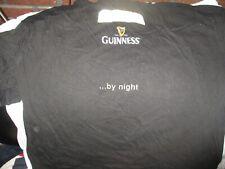 Black GUINNESS By Night Pint Glass T Shirt XL Ireland Irish Stout Beer