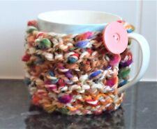 Hand knitted Mug Hug Cup Cosy Jacket Cover Sleeve ~ Super Chunky~ coffee/tea NEW