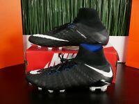 38 Nike Hypervenom Phantom 3 Elite DF FG Grey Soccer Cleat SZ 7-11.5 AH7270-081