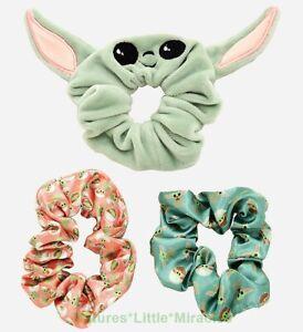 NWT Baby Yoda Hair Scrunchie Womens Head Band Tie Mandalorian Star Wars Girl NEW