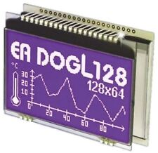 Electronic Assembly EA DOGL128B-6 Graphic LCD Display, White, Yellow-Green on Bl