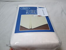 "New Belles & Whistles Ivory King Tailored Bedskirt 78x80+14"" Drop Nip"