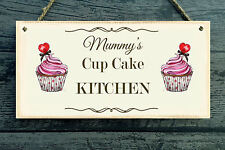 Cupcake Kitchen Personalised Plaque (Any Name) - gift home vintage style Present