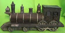 Antique Locomotive Figurine w/Lamp by Diamond collection Vintage Train decor