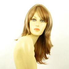 Perruque femme mi-longue blond foncé méché blond clair LILI ROSE F27613