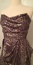 SHOSHANNA Silver/Purple Strapless  Dress~Sz 6~STUNNING!