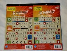 New 2 Scrabble Stickerbook Eureka 609693 (USA SHIPS FREE)