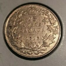 CANADA SILVER COIN 25 CENTS COIN King George V 1919