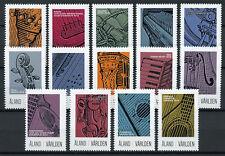 Aland 2018 MNH Musical Instruments Stamp Exhibitions 14v Set Music Stamps