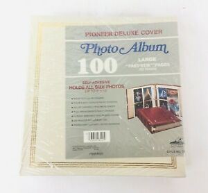 Vintage Pioneer Deluxe  Alligator Cover 100 Photo Album TR-100 Fits To 8 x10 NEW