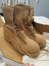 US ARMY ISSUE BELLEVILLE COMBAT BOOT, TAN, SIZE 10W NEW