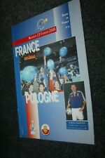 Programme Officiel )) FRANCE V POLOGNE 2000