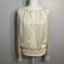 Bebe blouse with low partly open back- size Large