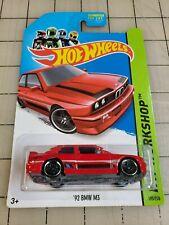 Hot Wheels '92 Bmw M3 Red Hw Workshop 195/250