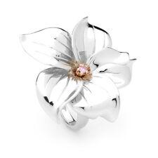 Australian Genuine Argyle Pink Diamond Gardenia Flower Ring PP09R
